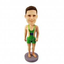 personalized male runner bobblehead
