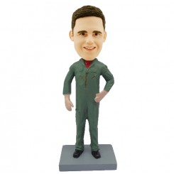 personalized man in flight suit bobblehead