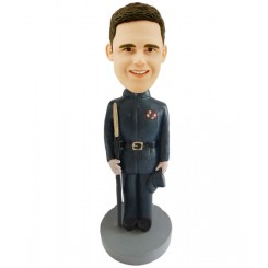 personalized military officer male bobblehead