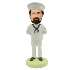 personalized navy bobblehead