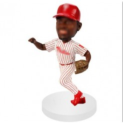 personalized outfielder baseball bobblehead