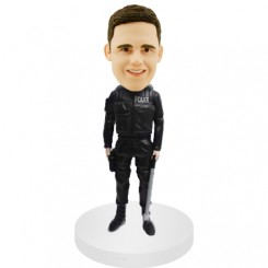 personalized police bobble heads