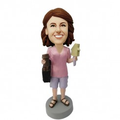 personalized realtor female bobblehead