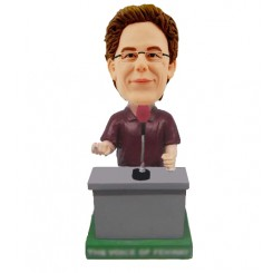 personalized speechmaker bobbleheads on rostrum
