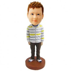 personalized striped shirt boy bobblehead