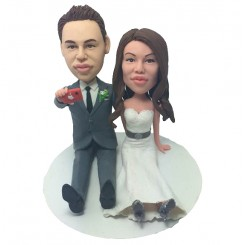 personalized take a photo cake topper