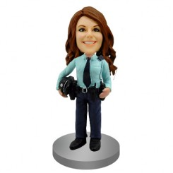 police woman custom bobblehead