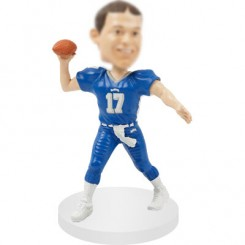 quarterbacks customised football bobble head