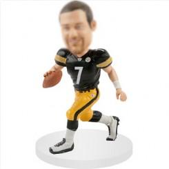 quarterbacks customized football bobblehead