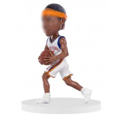 running shot personalized basketball bobblehead
