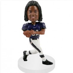 rushing customized football bobblehead