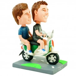 scooter couple brother bobblehead