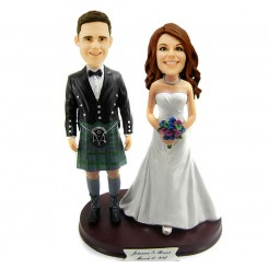 scotland wedding personalised bobbleheads