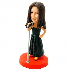 singer girl personalised bobblehead