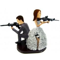 snipe wedding cake topper personalised