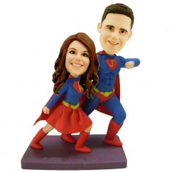super couple personalised bobbleheads