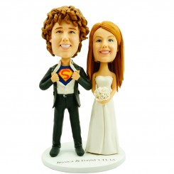 superman wedding cake topper bobblehead