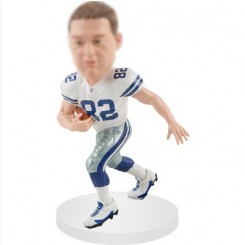 tight end custom football bobblehead