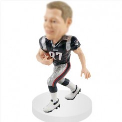 tight end personalized football bobblehead