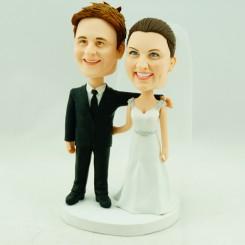 wedding cake topper bobbleheads