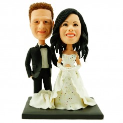 wedding cake topper personalised bride and groom