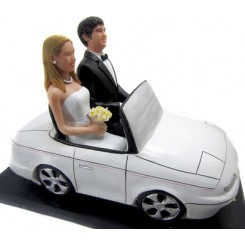 wedding car couple bobbleheads