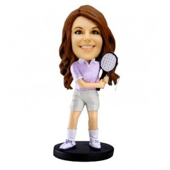 woman tennis personalised bobblehead