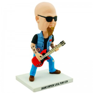 bass guitar player customised bobblehead doll
