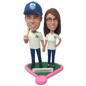 custom baseball couple bobbleheads ca