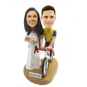 custom cyclist couple bobblehead