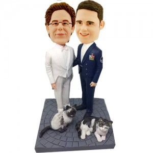 custom gay wedding cake topper