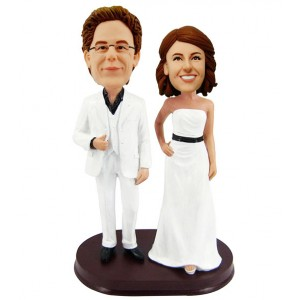 custom wedding cake topper bobblehead doll