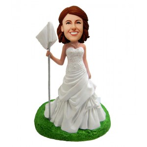customized golfer bridesmaid bobble heads