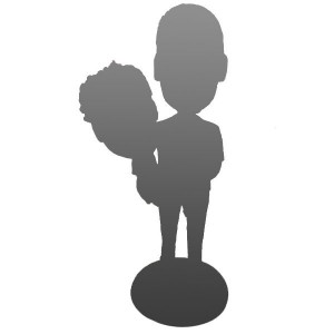 Fully Custom Father Or Mother And Kid Bobblehead
