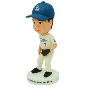 personalized baseball kid bobble head