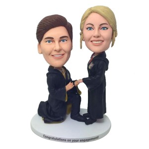 personalized couple bobblehead in harry potter outfit