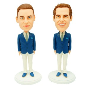 personalized groomsmen bobble heads 2 items
