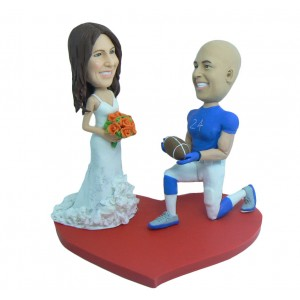 custom football fans bobbleheads