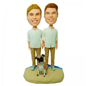 custom male homoerotism couple bobblehead