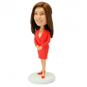 custom office lady bobble head