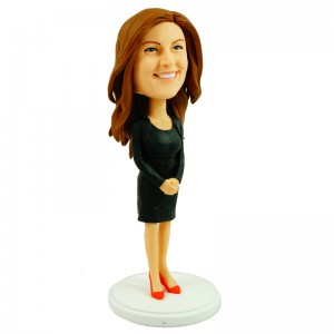 customised bobblehead office lady