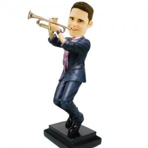customised trumpeter bobblehead