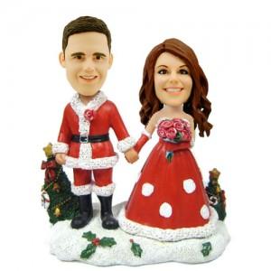 customized christmas bobblehead bride and groom