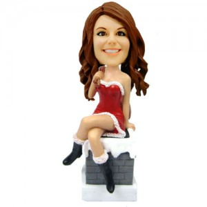 customized christmas bobblehead sexy girl
