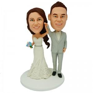 customized wedding cake topper bobblehead