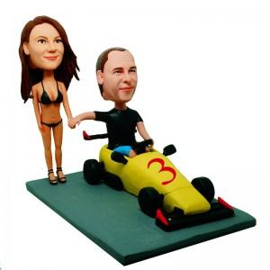 formula 1 theme custom couple bobblehead