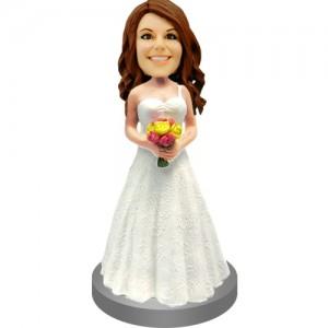 personalised bridesmaids weddingke topper