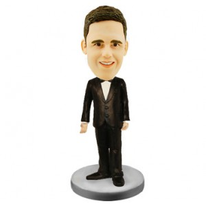 personalised groomsman weddingke topper