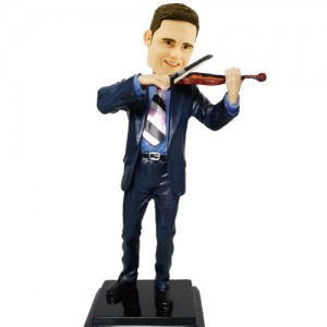 personalised violinist bobblehead