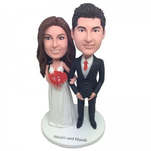 personalised wedding bobblehead doll
